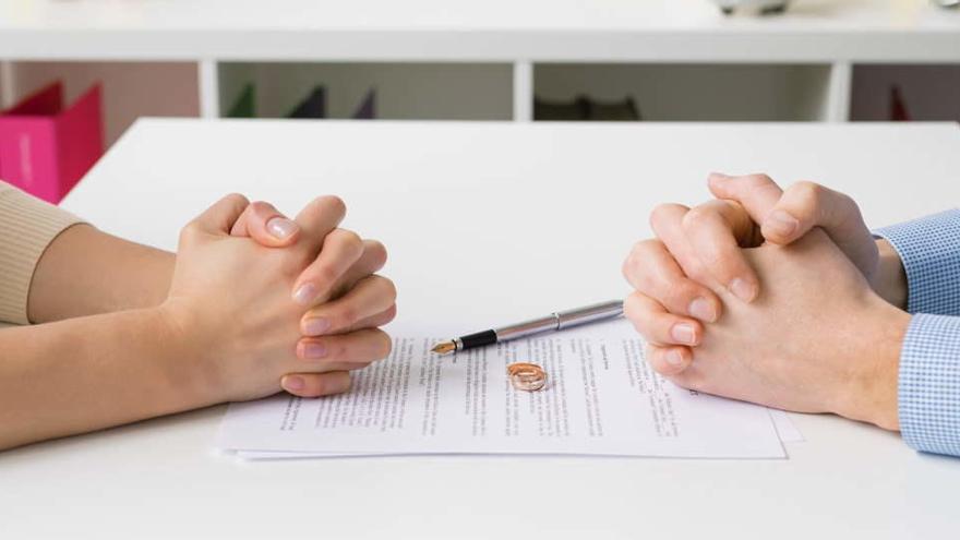 Las demandas de divorcio en España descienden un 41,8% en el segundo trimestre
