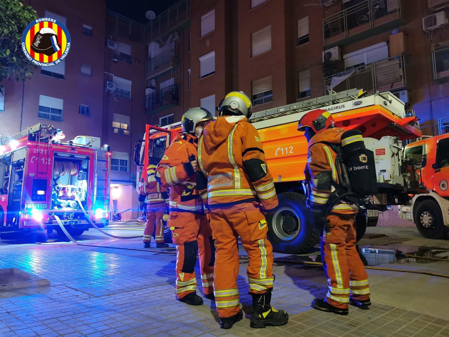 Incendio en Paiporta: el infierno en un piso