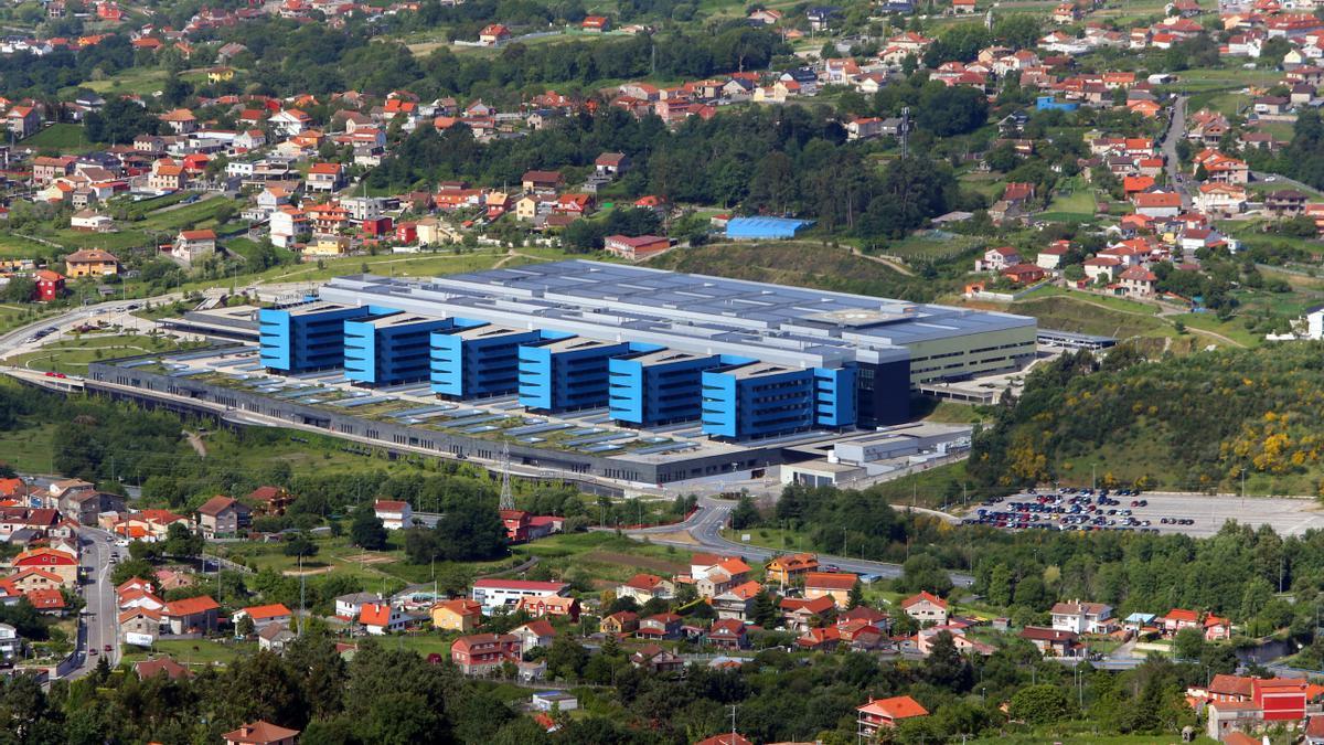 Imagen aérea del hospital. // A. Villar