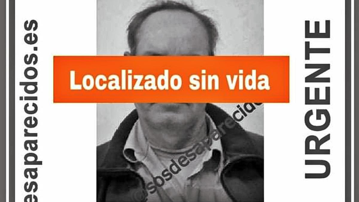 Cartel que confirma que los restos hallados eran de José Manuel Rodríguez González. | | E.D.