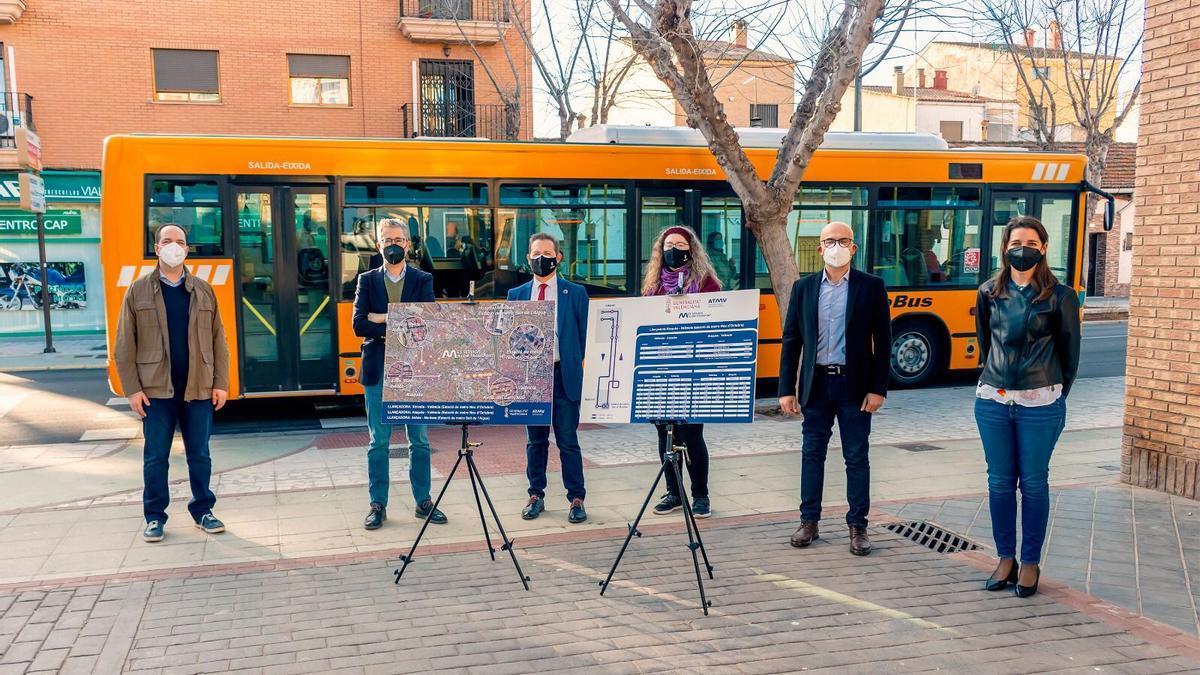 El conseller con los alcaldes de Aldaia, Xirivella y Alaquàs