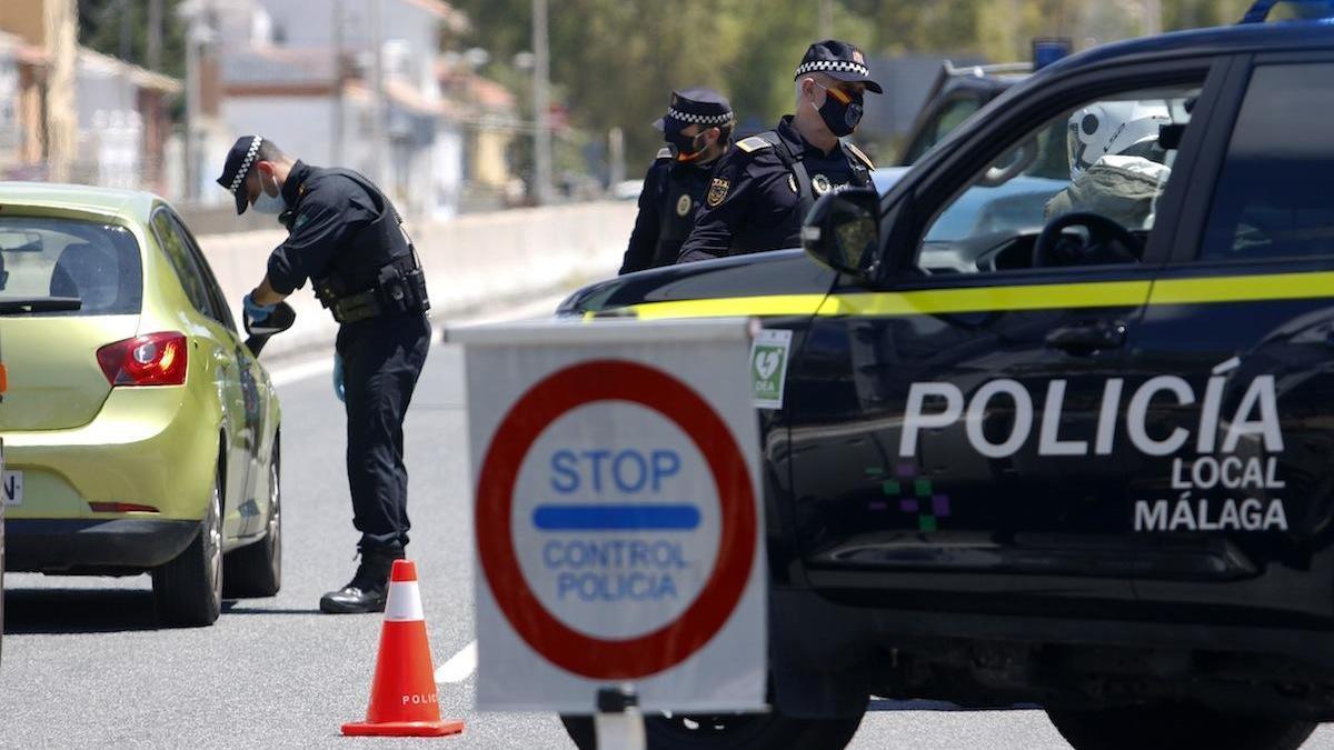Control de la Policía Local de Málaga.