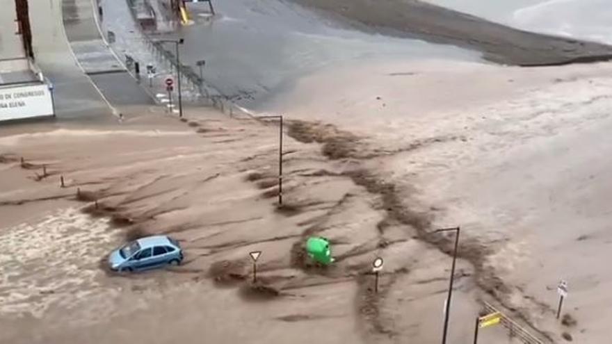 La Región se levanta con fuertes lluvias en el Guadalentín, Águilas, Mazarrón y Cartagena