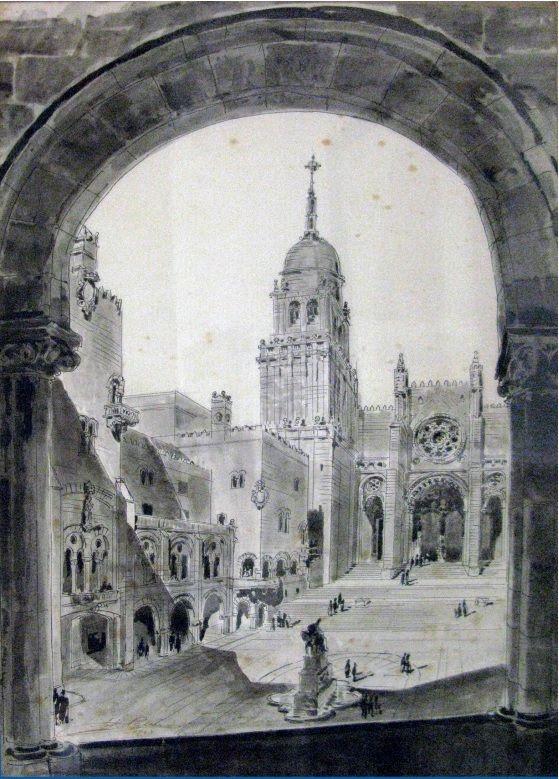 Perspectiva de la Plaza de San Martín con la arquitectura ideada por Palacios para acompañar la escenografía recuperada.jpg