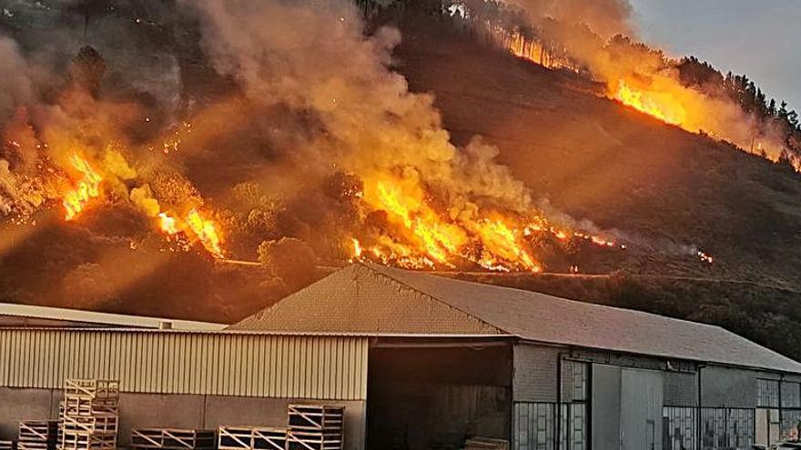 Unas 200 hectáreas devastadas por el fuego en Carballeda de Valdeorras