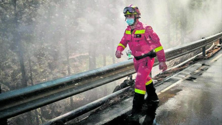 Un menor, supuesto responsable del incendio forestal de Garafía