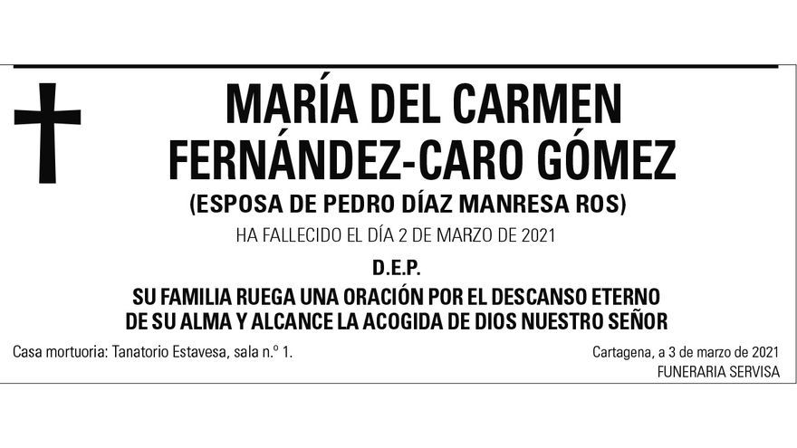 Dª María del Carmen Fernández-Caro Gómez