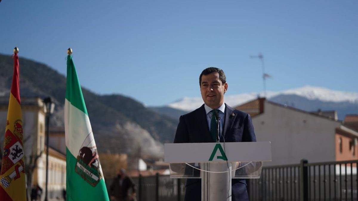 """Moreno prevé """"pequeñas aperturas"""" de movilidad y actividad económica a final de febrero en Andalucía si siguen los datos positivos"""