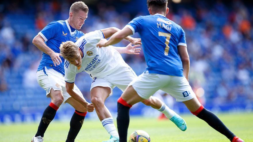 El Real Madrid cae ante los Rangers víctima de su falta de rodaje
