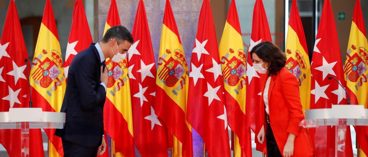 Ayuso  y Sánchez durante su encuentro en el mes de septiembre