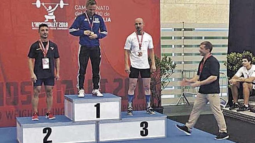 Plata para Antonio Martínez en halterofilia