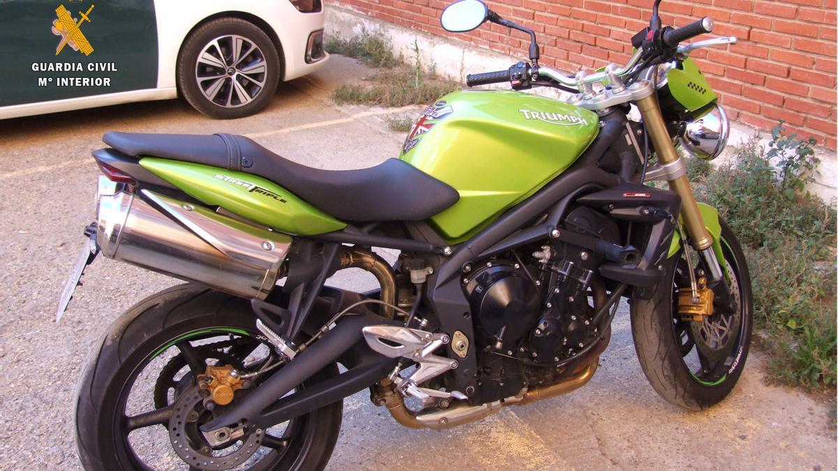 Motocicleta robada