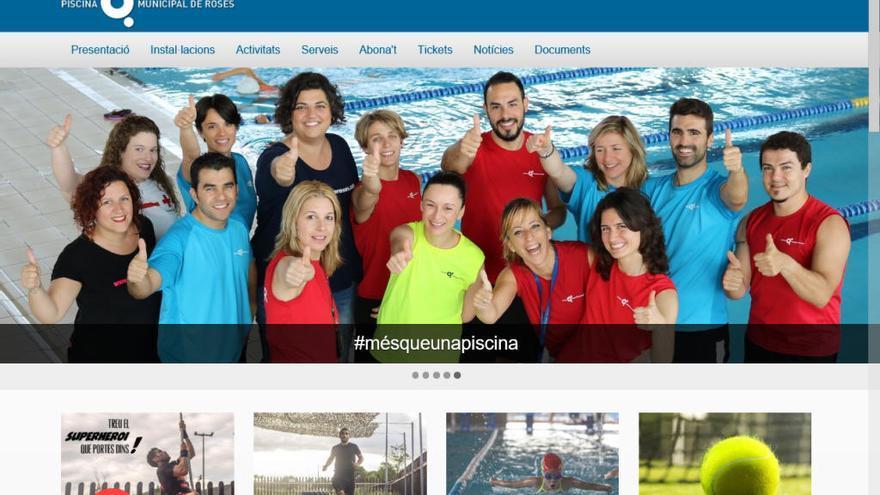 La piscina de Roses estrena un portal web interactiu