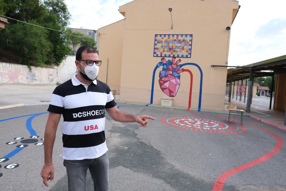 Murales interactivos en el colegio Miguel Servet de Elda