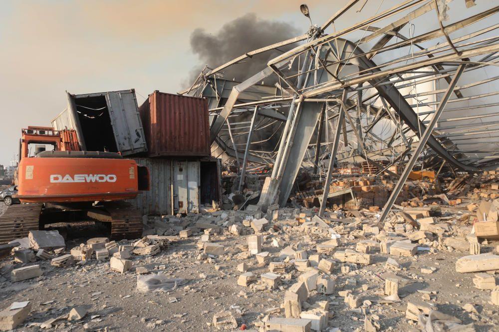 Fuerte explosión en un almacén de Beirut