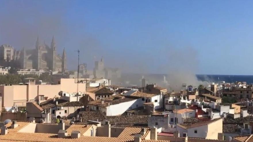 Feuer in Restaurant im Lonja-Viertel von Palma de Mallorca