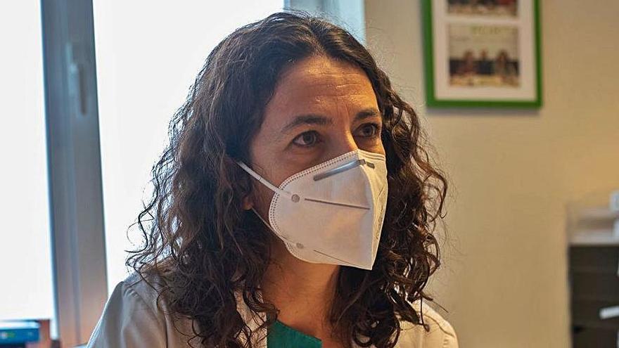 Lucía Fuentes, en su consulta. | Emilio Fraile