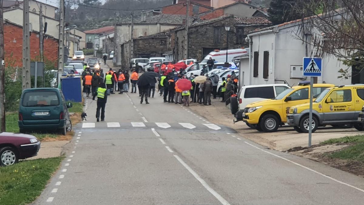 El dispositivo que esta mañana ha retomado las labores de búsqueda en Figueruela de Arriba