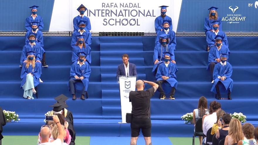 Rafa Nadal preside la graduación de la Rafa Nadal Academy by Movistar