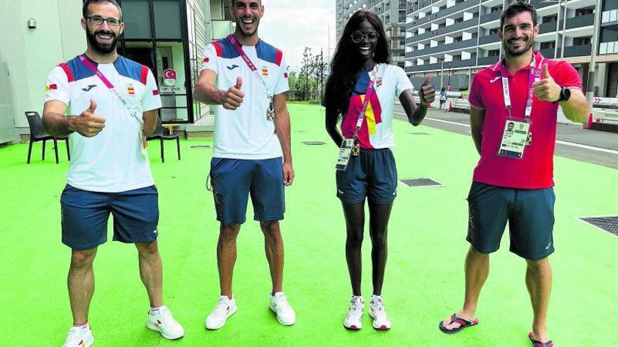 Los atletas valencianos velan armas