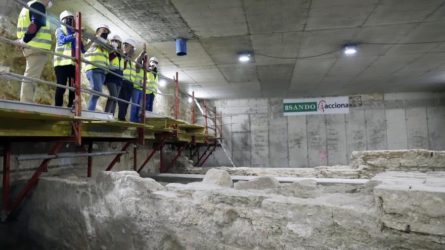 Metro de Málaga termina el trabajo de arqueología del tramo Renfe-Guadalmedina