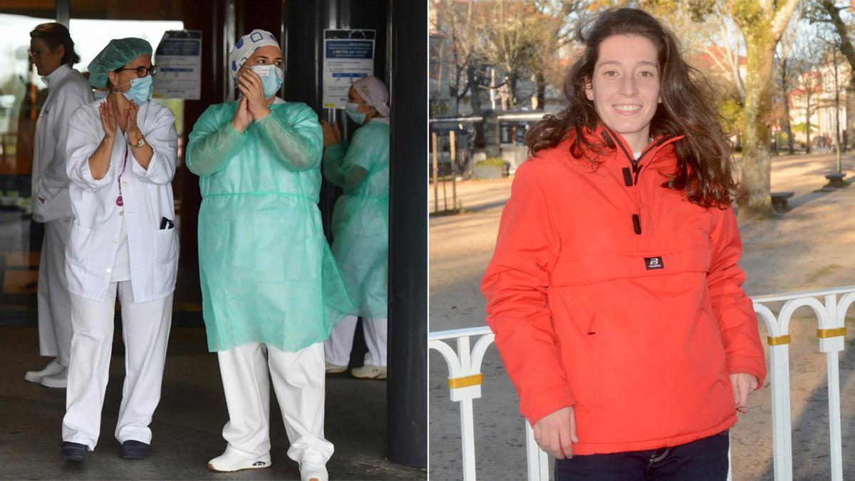 Personal sanitario del CHOP y Paula Dapena.