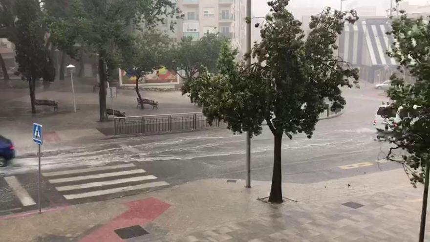 Poderosa tormenta en el Alto y Medio Vinalopó