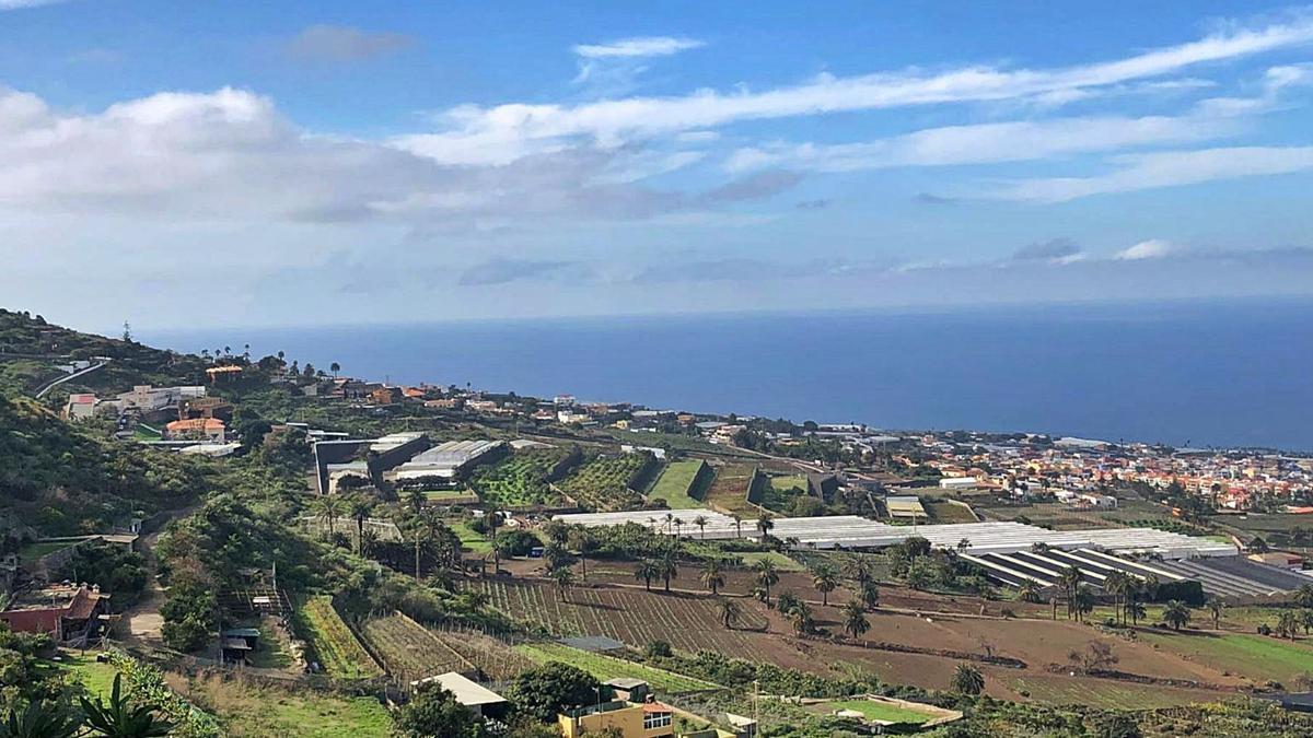 Parcelas agrícolas en Tenerife.