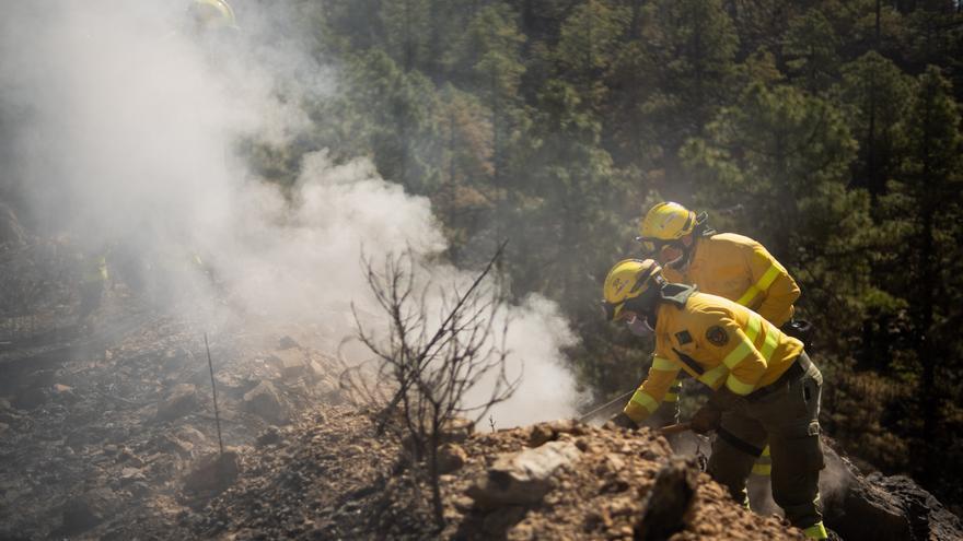 Detectada una columna de humo dentro del perímetro del incendio forestal de Arico
