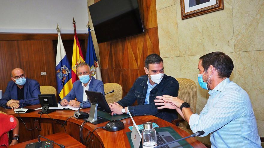 Sánchez pospone  su agenda en Nueva York y viaja de urgencia a La Palma