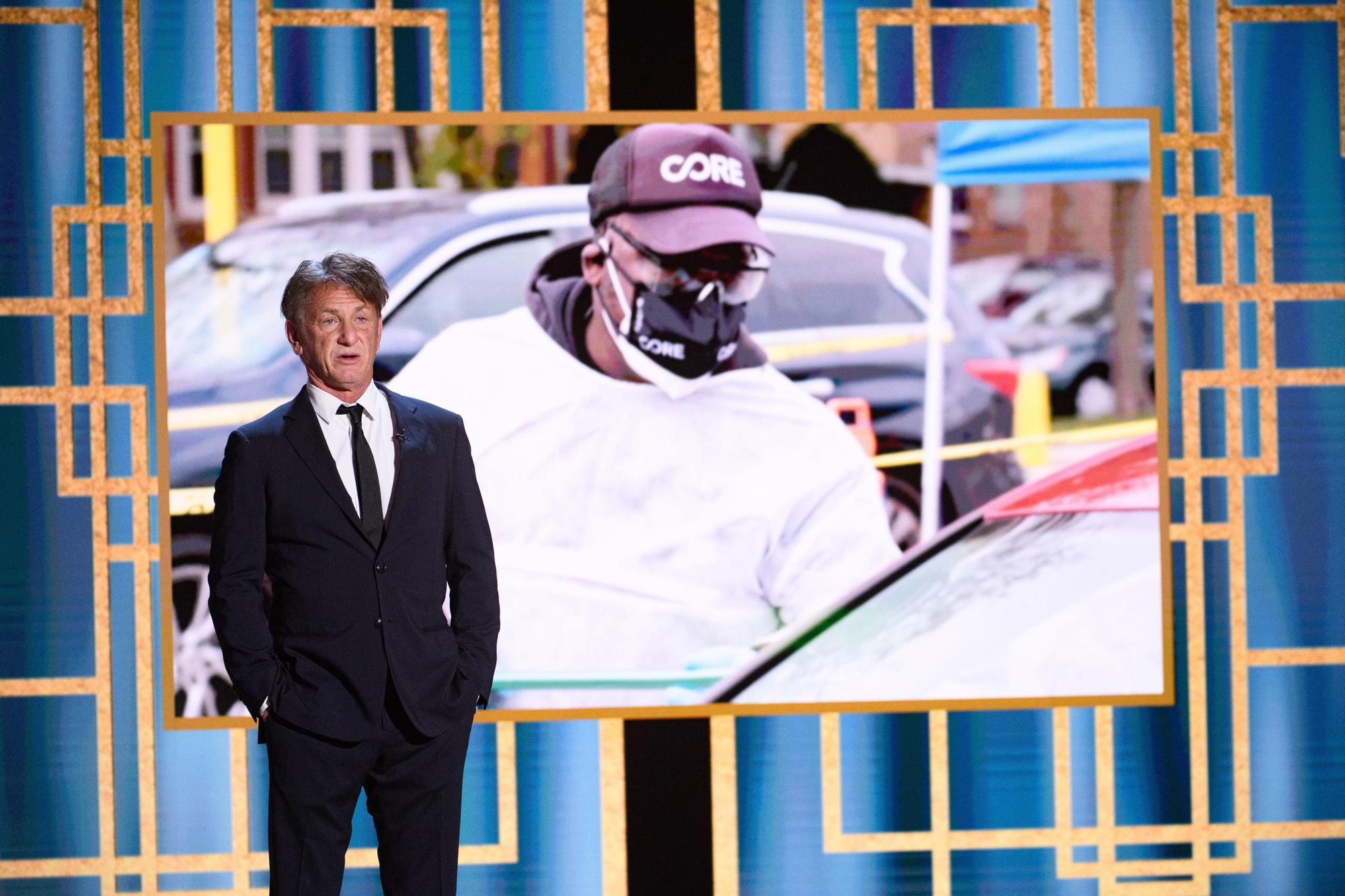 Sean Penn durante la presentación de la 78ª edición de los Globos de Oro