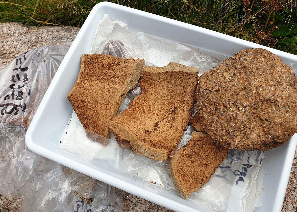 Restos arqueológicos, encontrados en el yacimiento