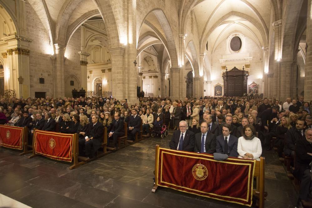 Vista general de la Catedral de Valencia que se llenó para despedir a la exalcaldesa.