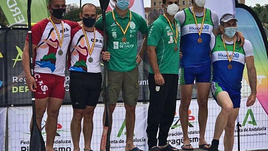 Los palistas de la Ribera se llevan cinco medallas en  el Campeonato de España