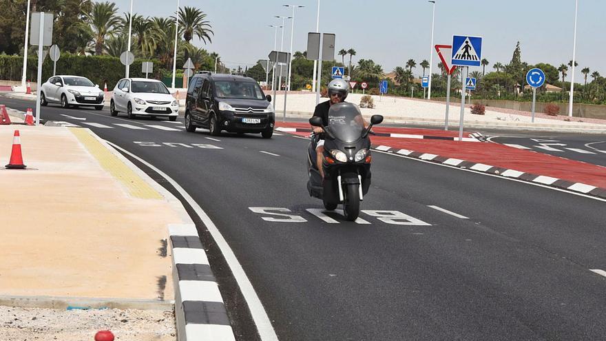 El desdoblamiento de la carretera de Santa Pola lleva un tercio ejecutado y no acabará hasta 2023