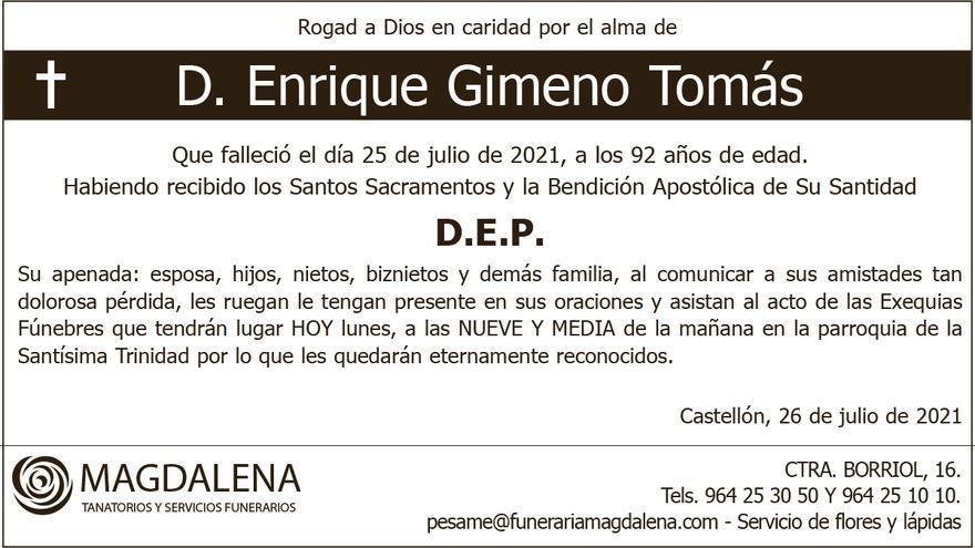 D. Enrique Gimeno Tomás
