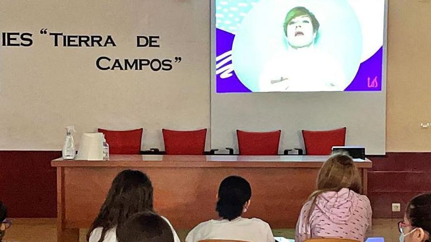 Alumnos del IES Tierra de Campos, grupo zamorano participante.