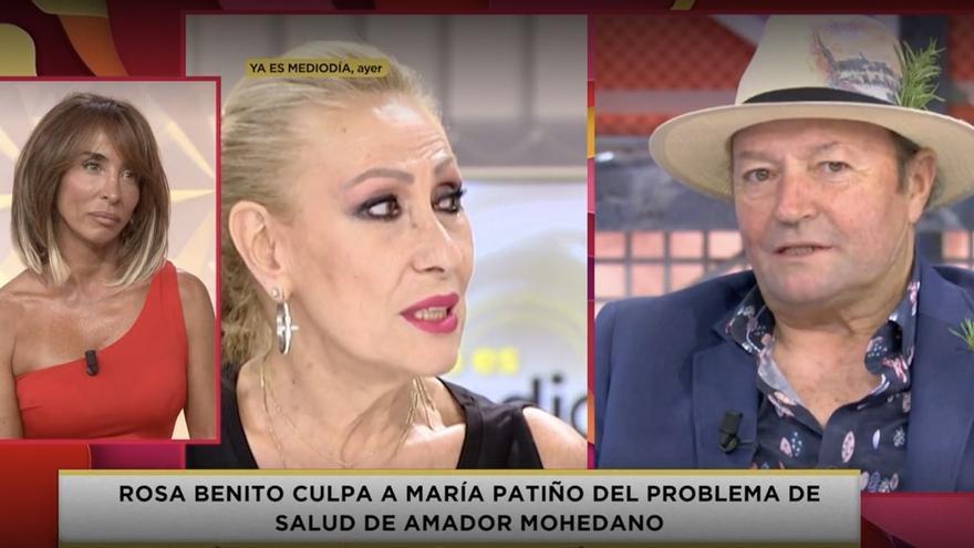 """María Patiño, contra Rosa Benito por su acusación sobre Amador Mohedano: """"Cruel e injusto"""""""