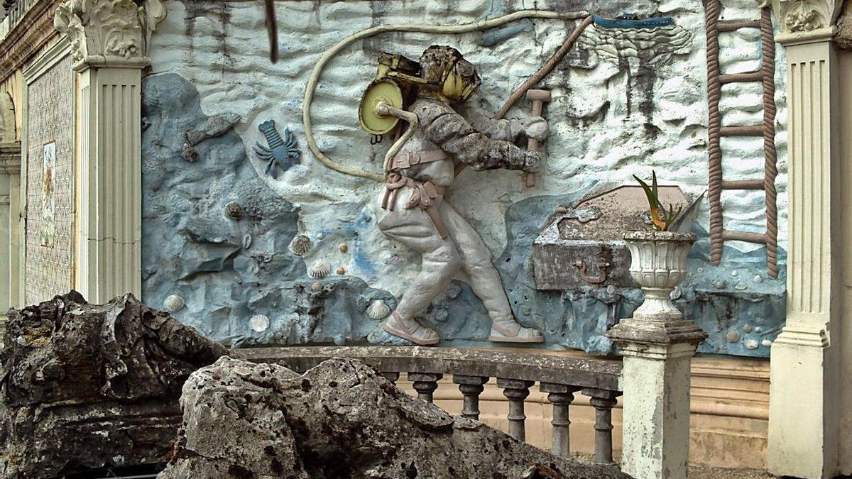 Una de las esculturas de O Pasatempo.     // HISPANIA NOSTRA