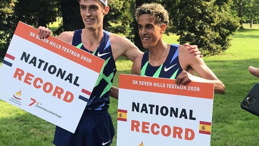 Ouassim Oumaiz bate el récord de España de 5 km en ruta