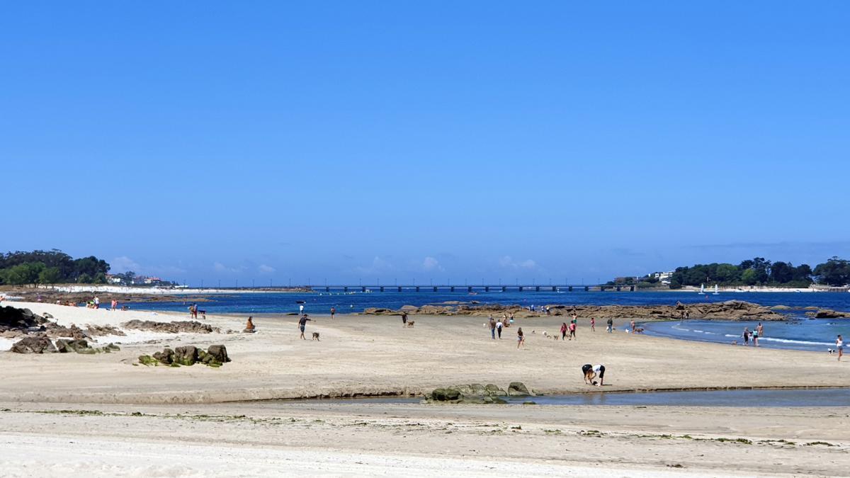 Vista de la playa de A Foz, en Vigo.