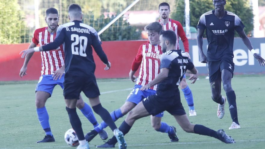 El partido del Sporting B ante el Covadonga, en suspense por un positivo
