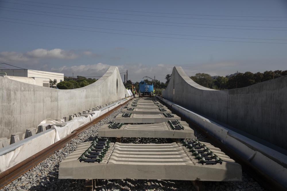 Reconstrucció del pont sobre el riu Tordera destruït pel Gloria
