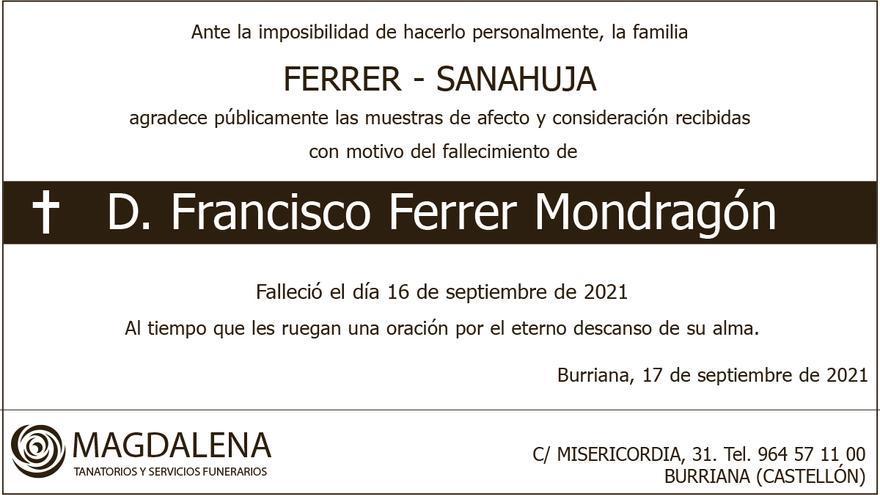 D. Francisco Ferrer Mondragón