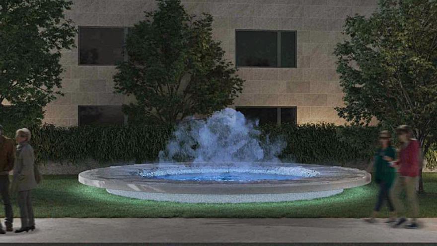 """La fuente ornamental de la estación intermodal evocará el agua termal con un efecto """"nube"""""""