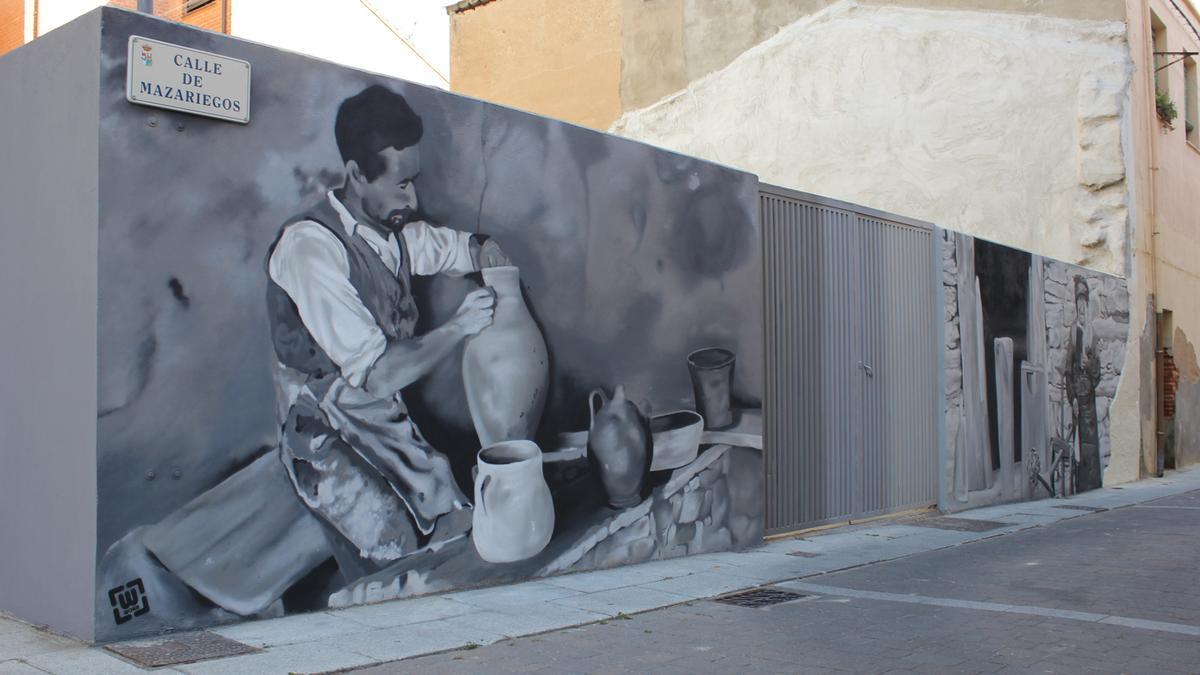 Mural recién estrenado en La Lana.