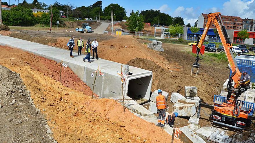 Sanxenxo confía en acabar en el mes de julio las obras de urbanización de O Revel