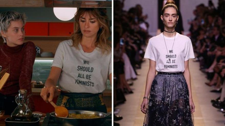 Furor por la camiseta feminista y 'chic' de Dior que luce Penélope Cruz en 'Madres paralelas'
