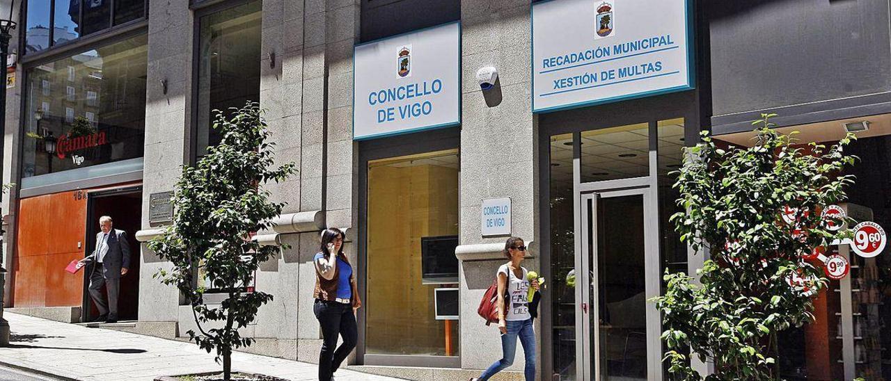 Fachada de la oficina de recaudación municipal y gestión de multas del ayuntamiento de Vigo.
