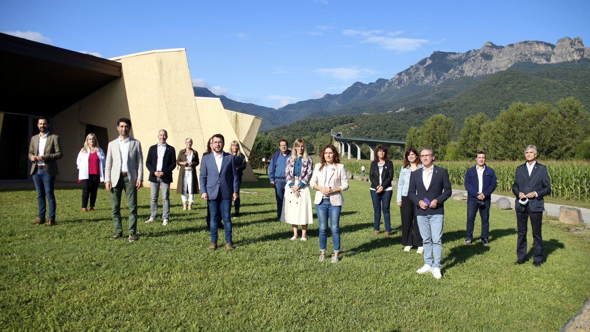 Jornada de convivència i treball del Govern a la Vall d'en Bas